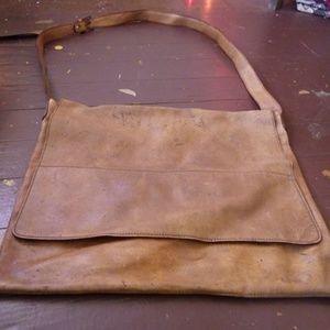 Genuine Leather Tan Hide Shoulder Bag Satchel